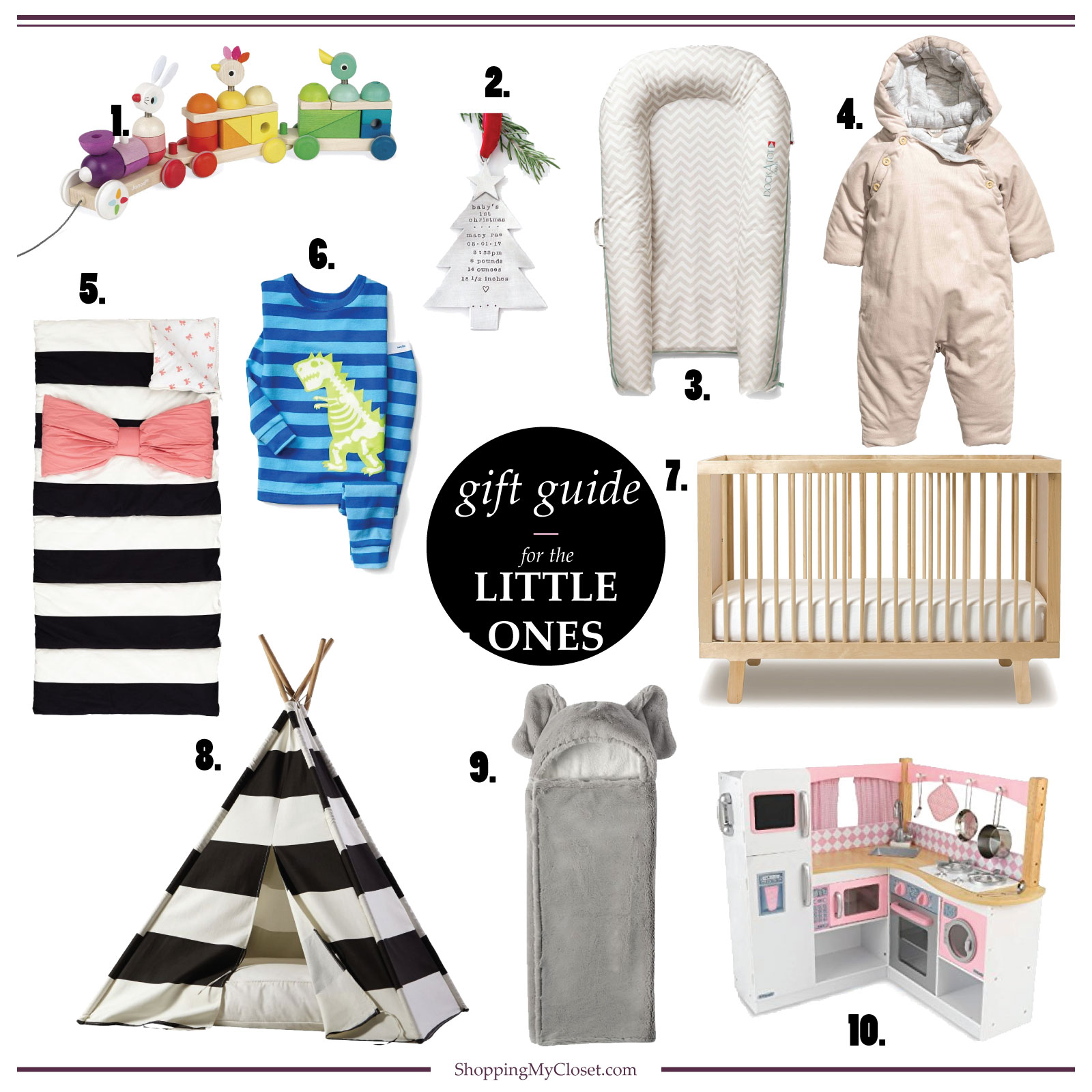 For the little ones (infants, toddlers, kids) {gift guide} | see the full details at www.shoppingmycloset.com #holiday #giftideas