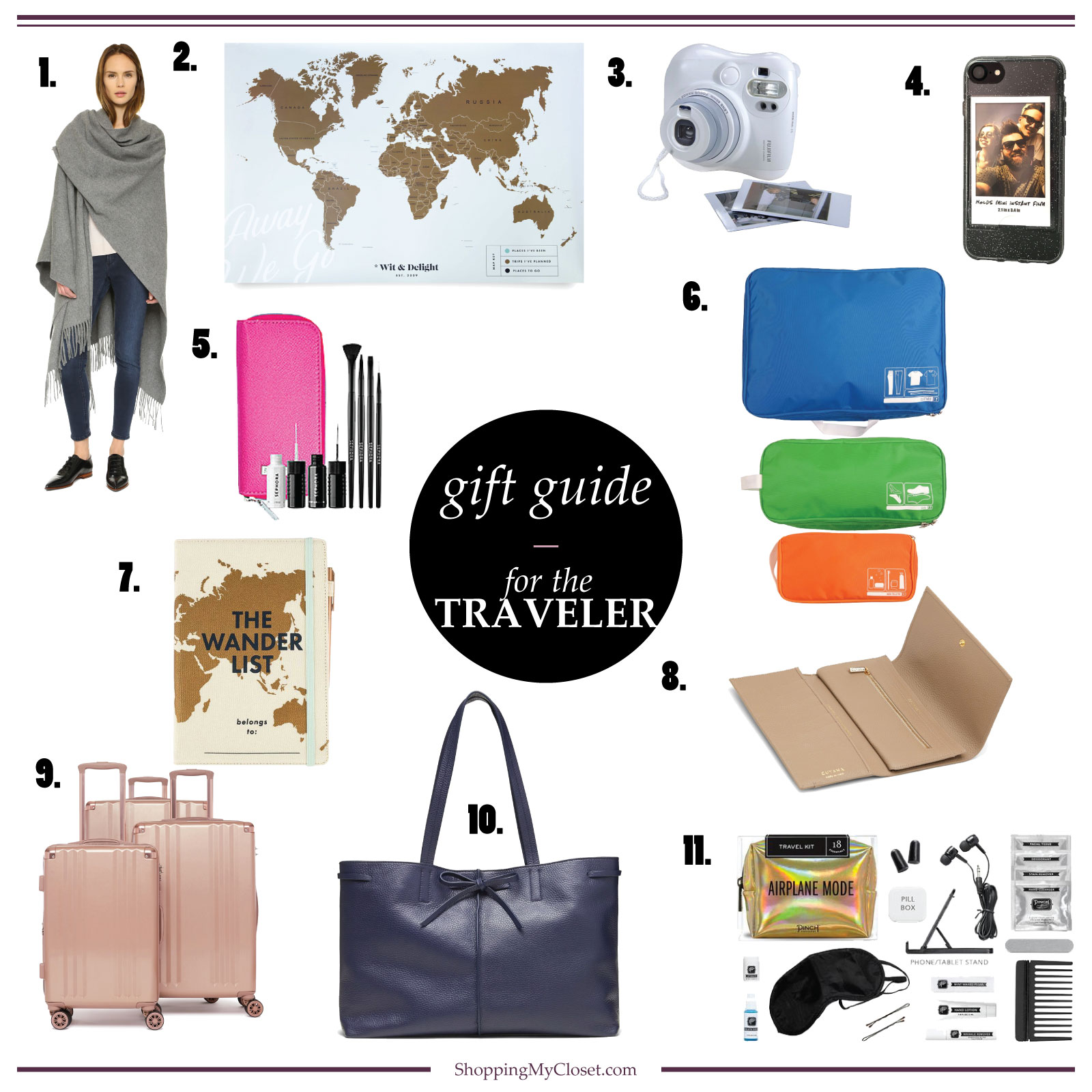 For the traveler or jetsetter {gift guide} | see all the ideas at www.shoppingmycloset.com