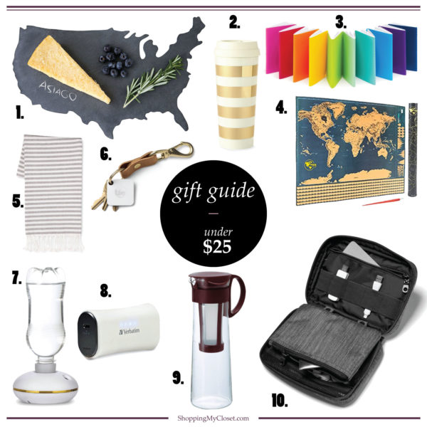 If you're looking for an inexpensive stocking stuffer, white elephant gift, or anything under $25 this is the gift guide for you | see all the ideas at www.shoppingmycloset.com