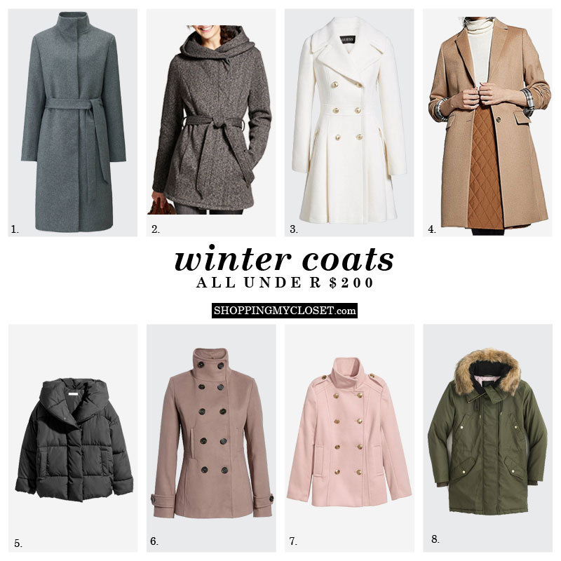 Affordable winter coats {under $200} | see all the details on www.shoppingmycloset.com