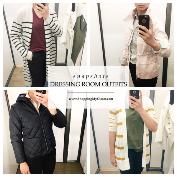 Snapshots: dressing room outfits  | see the details on www.shoppingmycloset.com