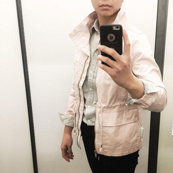 Pink utility jacket | see the details on www.shoppingmycloset.com