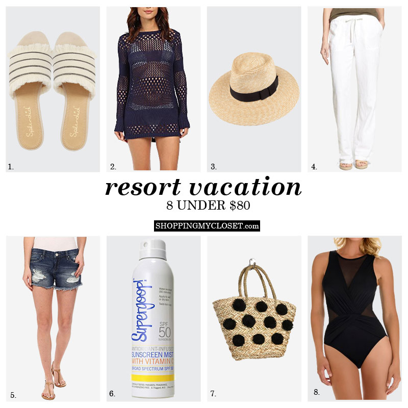 Resort vacation packing | www.shoppingmycloset.com