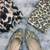 Leopard scarf, clutch, and flats | details on www.shoppingmycloset.com