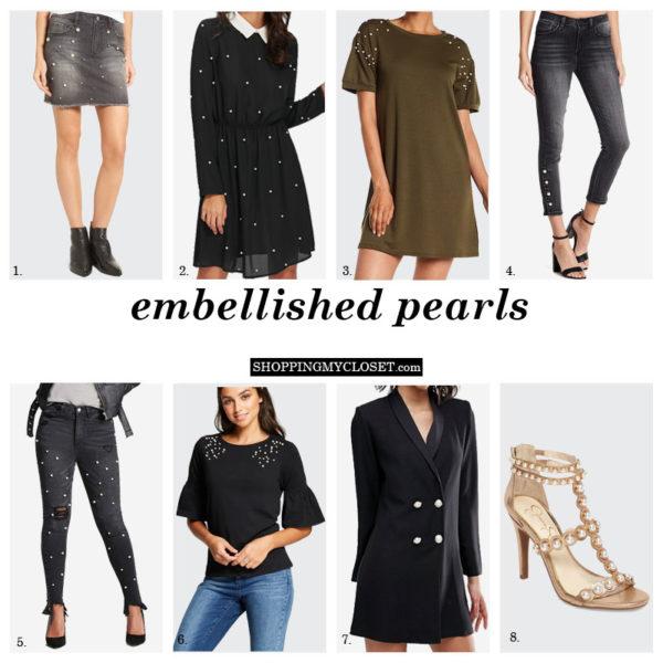 Embellished pearls | www.shoppingmycloset.com